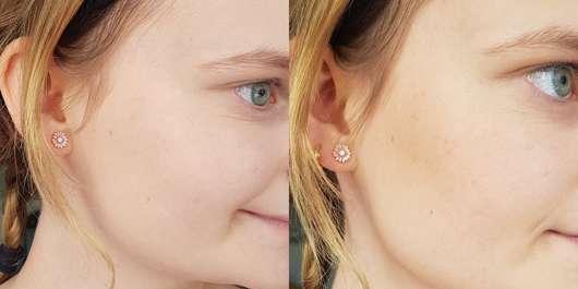 links: ohne Bronzer // rechts: mit Rival loves me Tropical Bronzer, Farbe: 01 waikiki