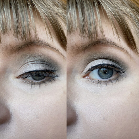 Augen Make-up mit Misslyn Matt X Metallic Eyeshadow Palette, Farbe: 2 Eye Got It!