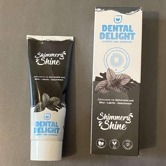 Dental Delight Shimmery Shine Zahncreme mit Aktivkohle