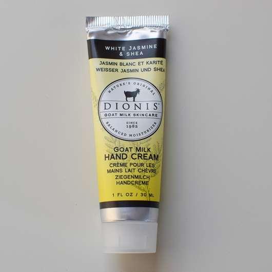 DIONIS Goat Milk Hand Cream, White Jasmine & Shea