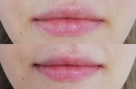"""Lippen ohne/mit DIONIS Goat Milk Lip Balm """"Peppermint"""""""
