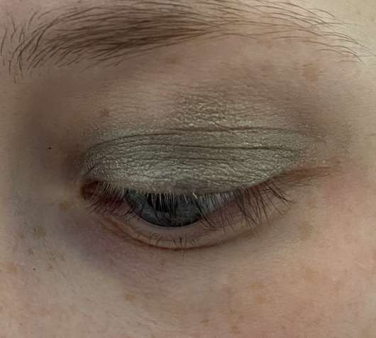 Auge mit IsaDora Active All Day Wear Eyeshadow, Farbe: 09 Frosty Gray