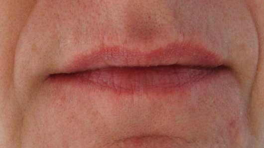 vor der Anwendung des LUSH Bubblegum (Lip Scrub)