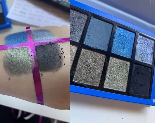 Swatches - Misslyn Matt X Metallic Eyeshadow Palette, Farbe: 2 Eye Got It!