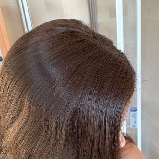Haare nach dem Ausbürsten des Balea Trockenshampoo Hawaiian Coconut