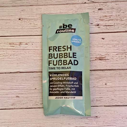 <strong>#be routine</strong> Fresh Bubble Fußbad