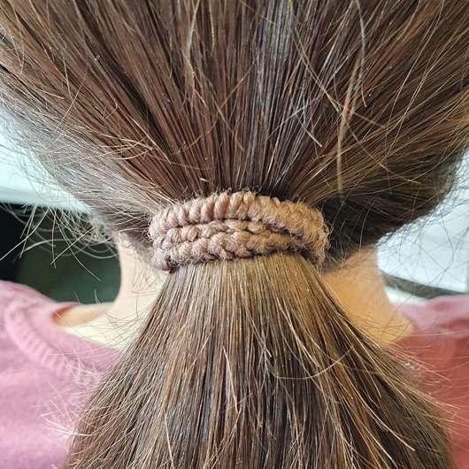 Haare mit ebelin Struktur Haargummis, Farbe: Braun