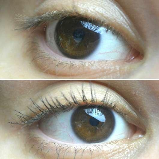 Auge ohne/mit IsaDora Big Bold Volume Mascara Waterproof, Farbe: 12 Black