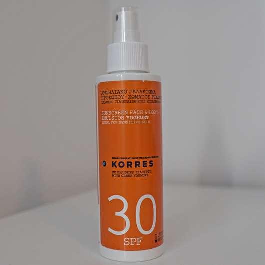 KORRES Yoghurt Sonnenemulsion Gesicht & Körper SPF 30