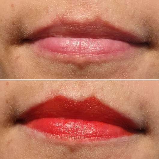Lippen ohne/mit trend IT UP Color Lip Tint, Farbe: 020