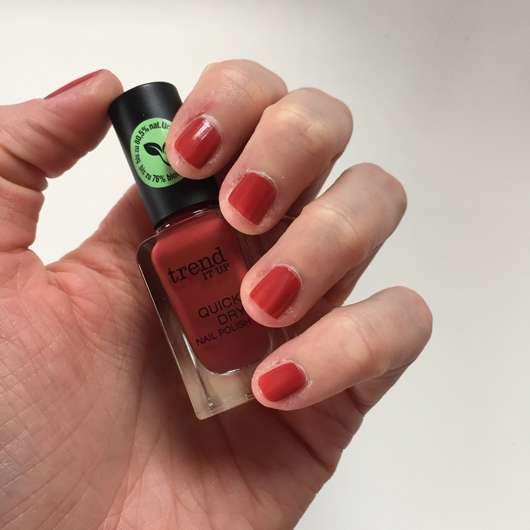 Nägel mit einer Schicht - trend IT UP Quick Dry Nail Polish, Farbe: 075