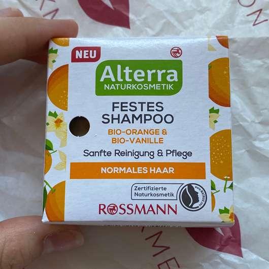 Alterra Naturkosmetik Festes Shampoo Bio-Orange & Bio-Vanille
