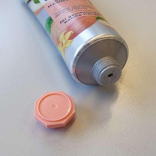 Balea Aroma Handcreme Pfirsich & Vanille - Dosieröffnung