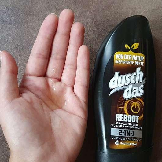 duschdas Reboot 2-in-1 Duschgel & Shampoo - Konsistenz