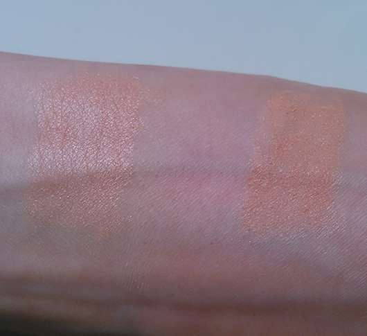 Swatch: links mit Base // rechts ohne Base