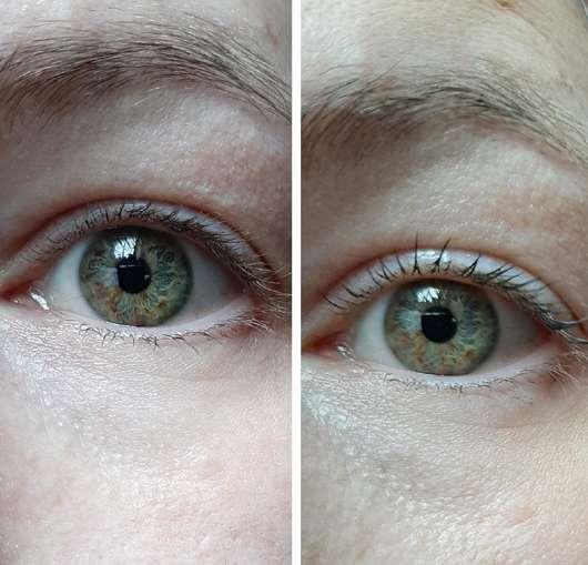 rechtes Auge ohne/mit trend IT UP 10in1 Mascara