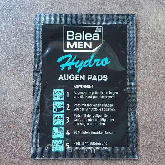 Balea MEN Hydro Augenpads mit Kühleffekt