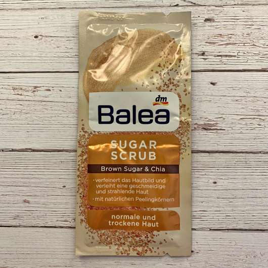 Balea Peeling Sugar Scrub Brown Sugar & Chia