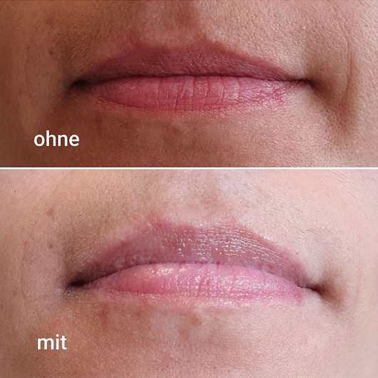 Lippen ohne /mit bebe Zartrosé Lippenpflege