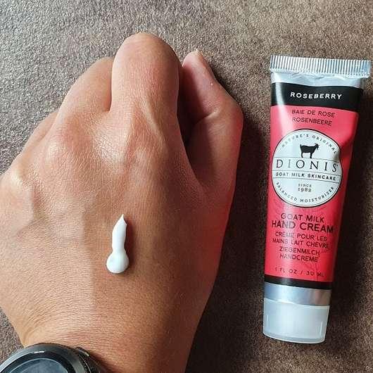 Dionis Goat Milk Hand Cream Roseberry - Konsistenz