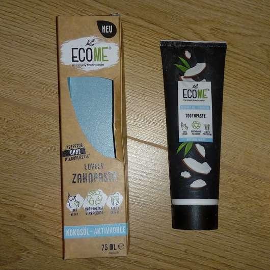 ECOME Lovely Zahnpasta Kokosöl - Aktivkohle