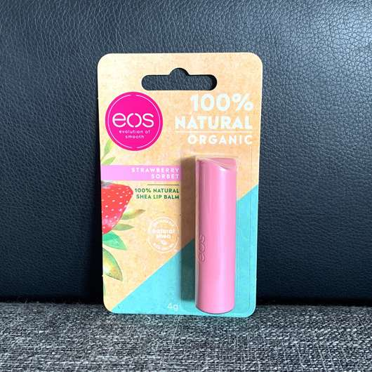eos Organic Lip Balm Stick, Sorte: Strawberry Sorbet