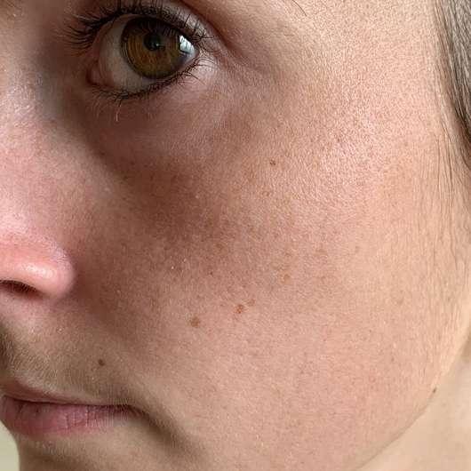 Gesicht vor dem Test der МOY by Stefanie Giesinger Beauty Booster Mask