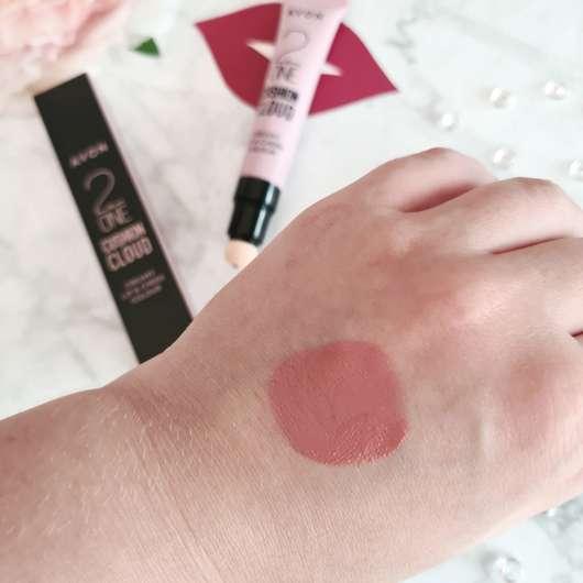 Swatch - AVON CUSHION CLOUD Cremige Lippen- & Wangenfarbe, Farbe: Sugar And Spice
