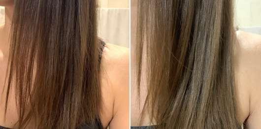 Balea Schönheitsgeheimnisse Verwöhnendes Shampoo Kirschblüte - links: Haare zu Testbeginn // rechts: Haare nach Testende