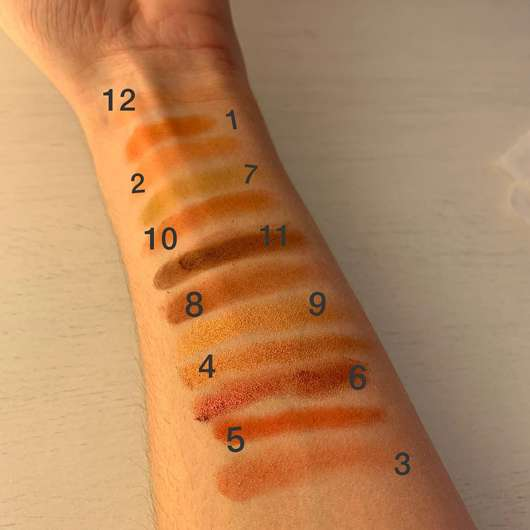 Sleek Makeup i-Divine Eyeshadow Palette, Farbe: Royal Flush - Swatches mit Base