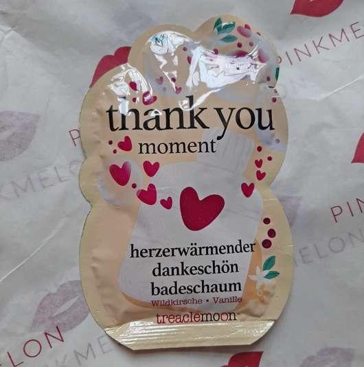 treaclemoon thank you moment badeschaum
