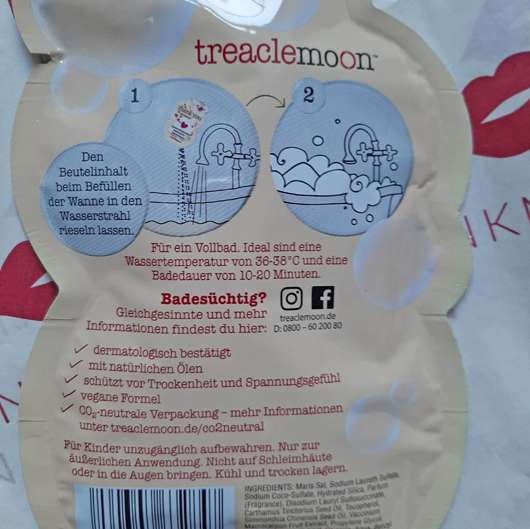 treaclemoon thank you moment badeschaum