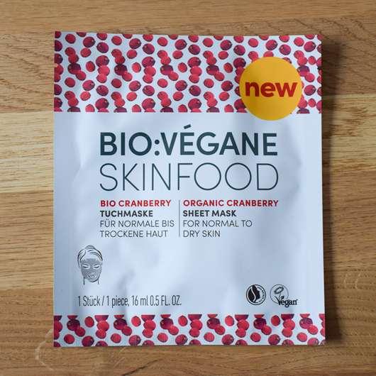 <strong>BIO:VÉGANE</strong> Bio Cranberry Tuchmaske