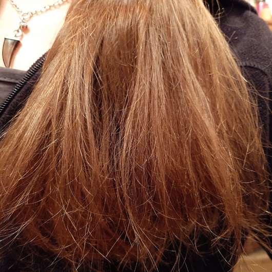 Haare nach 3-wöchigem Test der cosnature Naturkosmetik Repair-Haarmaske Avocado & Mandel