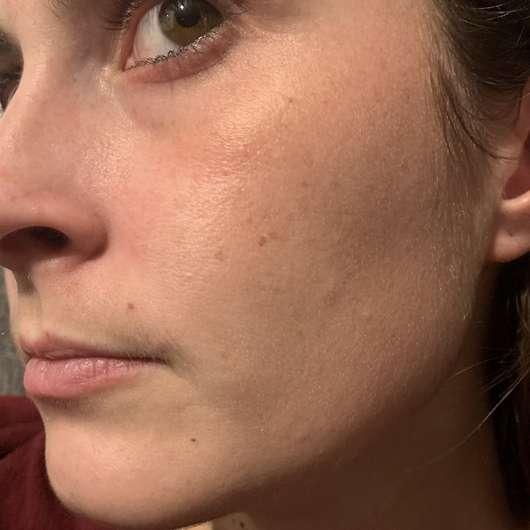 ISANA Hydrogel Maske Glow & Shine - Haut nach dem Test