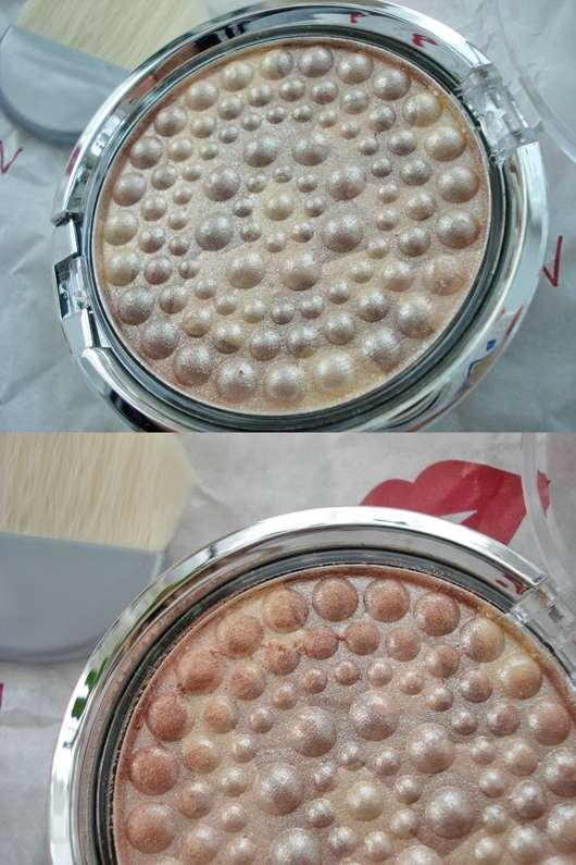 Oben: Produkt vor der ersten Benutzung // unten: nach dem Swatchen