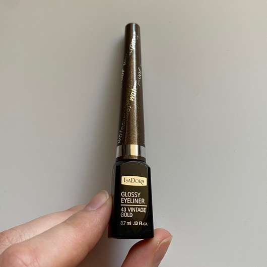 <strong>IsaDora</strong> Glossy Eyeliner Waterproof - Farbe: 43 Vintage Gold (LE)