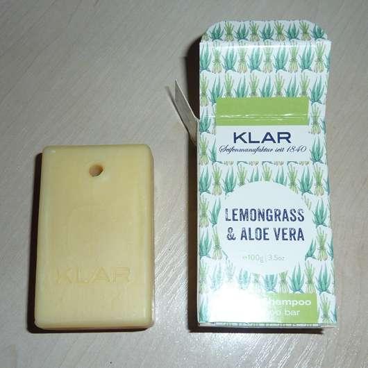 Klar's festes Shampoo Lemongrass & Aloe Vera