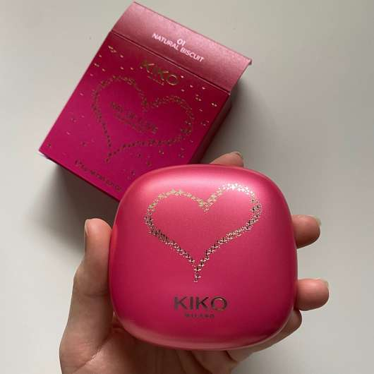 KIKO RAY OF LOVE Radiant Blush, Farbe: 01 Natural Biscuit (LE)