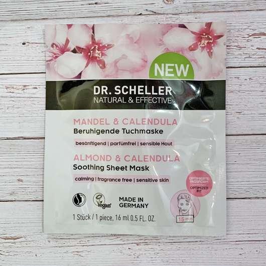 Dr. Scheller Mandel & Calendula Beruhigende Tuchmaske