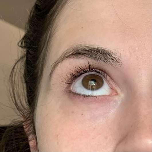 ISANA Hydrogel Eye-Pads Glow & Shine - nach der Anwendung