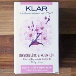 Produktbild zu Klar Seifen Hand- und Körperseife Kirschblüte & Reismilch