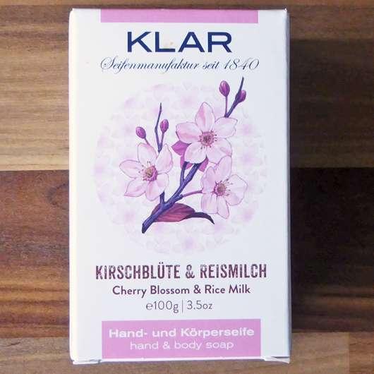 Klar's Kirschblüte & Reismilch Seife
