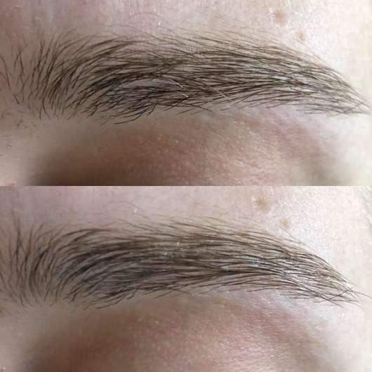 Augenbrauen ohne/mit Dr. PawPaw Original Balm