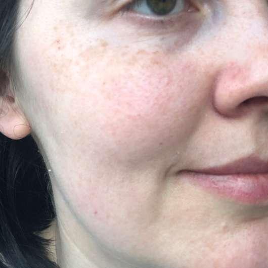 ISANA Milder Reinigungsschaum - Haut nach dem 4-wöchigen Test