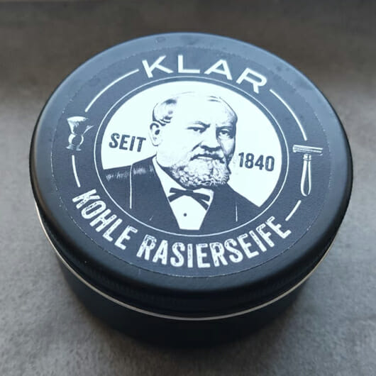 Klar's Rasierseife Aktivkohle (palmölfrei)