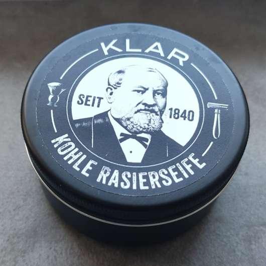 <strong>Klar Seifen</strong> Rasierseife Aktivkohle (palmölfrei)