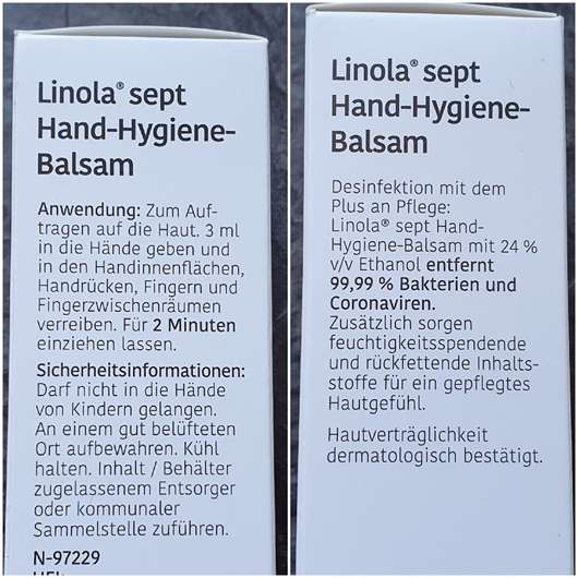 Linola sept Hand-Hygiene-Balsam