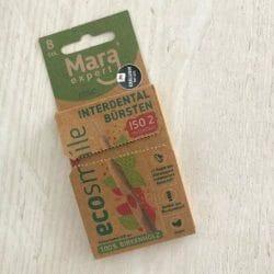 Produktbild zu MARA EXPERT ECOSMILE Holz Interdentalbürsten (ISO 2, mittelfein) – Farbe: Rot