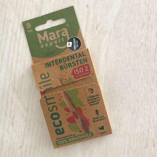 Mara Expert ECOSMILE Holz Interdentalbürsten (ISO 2, mittelfein), Farbe: Rot
